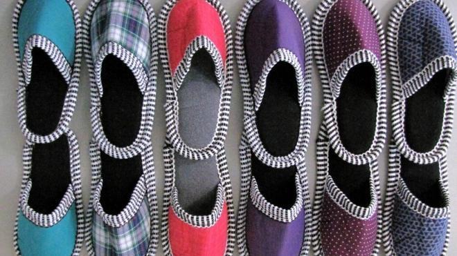 Tekstilni sobni copati - zimski
